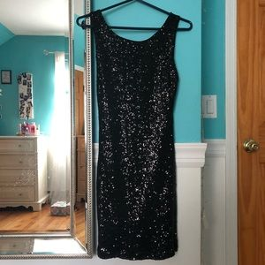 Crystal Doll Black Sequin Dress